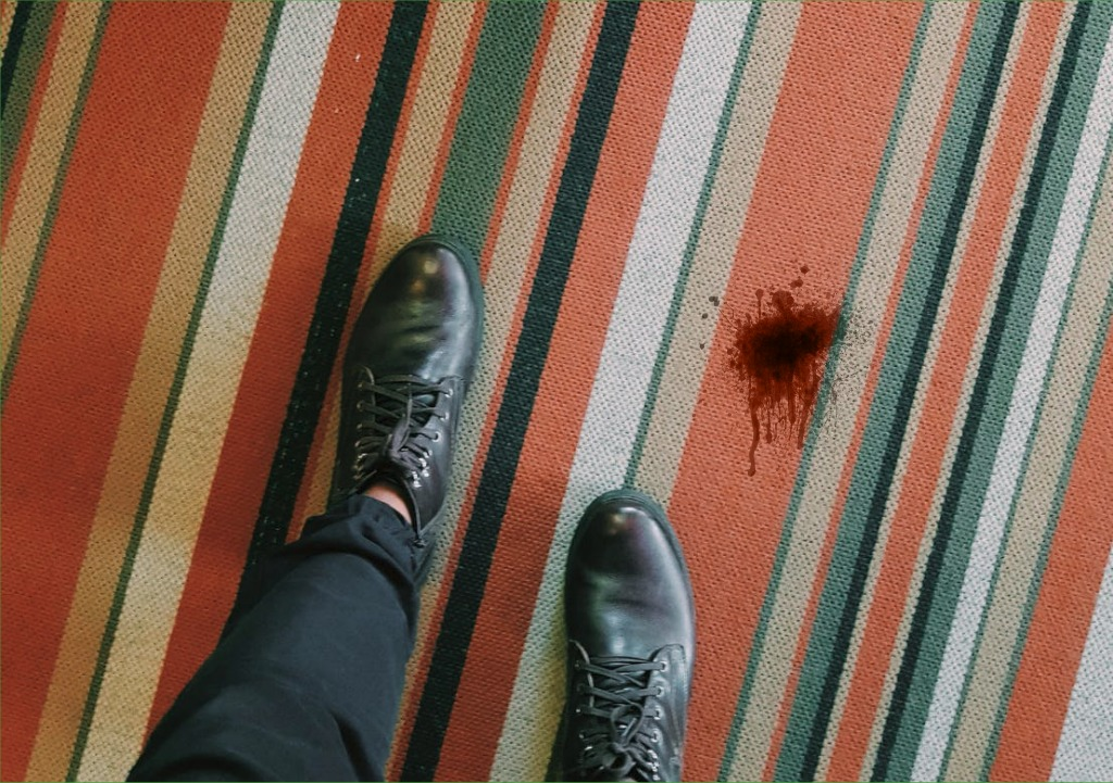 how to remove blood stains from carpets